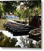 Boats On The Thames River Oxford England Metal Print