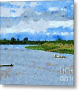 Boats Painting Metal Print