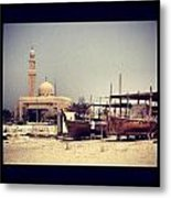 Boatyard Dubai Metal Print by Maeve O Connell