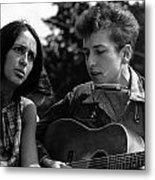 Bob Dylan And Joan Baez Metal Print