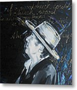 Bob Dylan - Blowing In The Wind Metal Print