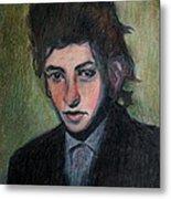Bob Dylan Portrait In Colored Pencil  Metal Print
