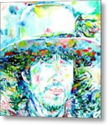 Bob Dylan - Watercolor Portrait.2 Metal Print