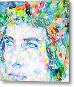 Bob Dylan Watercolor Portrait.3 Metal Print