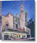 Bob Hope Theatre Metal Print by Vanessa Hadady BFA MA