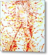 Bob Marley And Guitar - Watercolor Portrait Metal Print