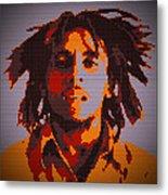 Bob Marley Lego Pop Art Digital Painting Metal Print