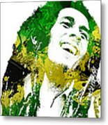 Bob Marley Metal Print by Mike Maher