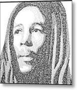 Bob Marley Painting Metal Print