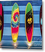 Bob Marley Surfing Display Metal Print