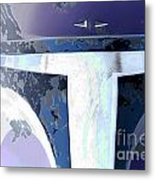 Boba Fett Helmet 10 Metal Print