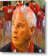Bobby Knight Indiana Legend Metal Print