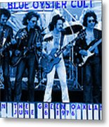 Boc #103 In Blue With Text Metal Print