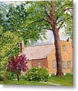Bockrath-weise House Impressionistic Oil Painting Metal Print