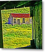 Bodie Ca From My Window Metal Print