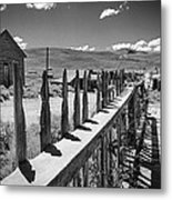Bodie California Long Dusty Road Metal Print