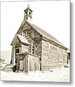 Bodie Ghost Town Church Metal Print