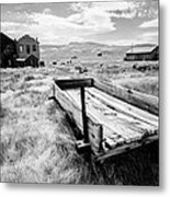 Bodie Ghost Town In Black And White Metal Print