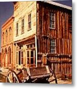 Bodie Ghost Town Wagon Metal Print