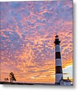 Bodie Island Lighthouse At Sunrise Vetical Metal Print