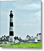 Bodie Island Lighthouse - Outer Banks North Carolina Metal Print