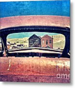 Bodie Through Car Window Metal Print