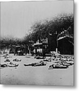 Bodies Of Chinese Communists Lie Metal Print