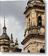 Bogota Cathedral Towers Metal Print