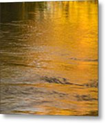 Boise River Autumn Abstract Metal Print