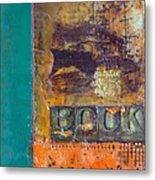 Book Cover Encaustic Metal Print