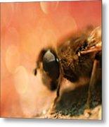 Bokeh Bee Metal Print