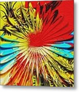 Bold Floral Hat Abstract Metal Print