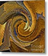Bold Golden Abstract Metal Print