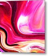 Bold Pink Abstract Metal Print