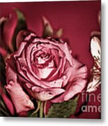 Bold Pink Rose Bouquet Metal Print