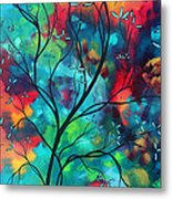 Bold Rich Colorful Landscape Painting Original Art Colored Inspiration By Madart Metal Print by Megan Duncanson