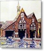 Boldt Castle Boat House Metal Print