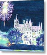 Boldt Castle Fireworks Metal Print