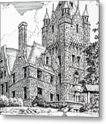 Boldt Castle With Seagull Metal Print