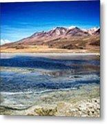 Bolivia Desert Lake Framed Metal Print
