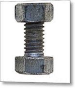 Bolt With Nut Metal Print
