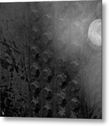 Bolts On The Trident In Black And White Metal Print