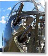 Bomber's Cockpit Metal Print