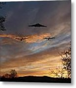 Bombers Pass By  Metal Print