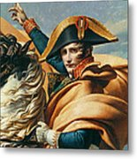 Bonaparte Crossing The Alps Oil On Canvas Detail Of 18491 Metal Print