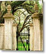 Bonaventure Cemetery Gate Savannah Ga Metal Print