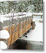 Bond Falls Bridge Metal Print