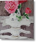 Bones And Roses Metal Print
