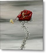 Boning The Couch Metal Print