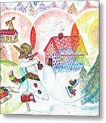 Bonnefemme De Neige / Snow Woman Metal Print